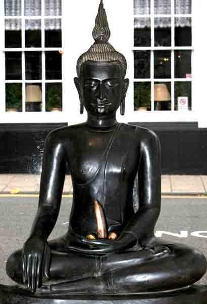 Buddha with banana