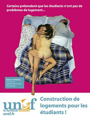 sexy french student housing poster