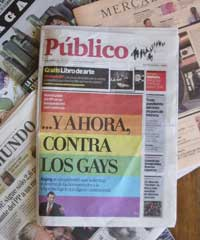 Popular newspaper gay cover