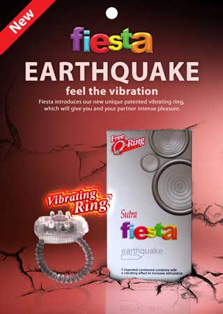 Fiesta earthquake vibrating condoms