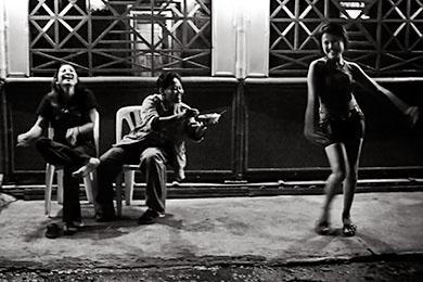 Prostitutes dance in Jakarta, Indonesia